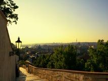 Piękny krajobraz Praga w wschodu słońca czasie Obraz Royalty Free