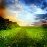 piękny krajobrazowy lato Obrazy Royalty Free