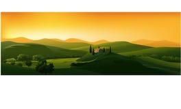 piękny krajobrazowy wektor Zdjęcia Royalty Free