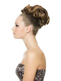 piękny kreatywnie dziewczyny fryzury nastolatek Obraz Royalty Free