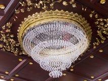 Piękny krystaliczny świecznik Obraz Royalty Free