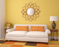 Piękny living-room. Zdjęcia Royalty Free