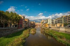 Piękny miasto Girona Obrazy Stock