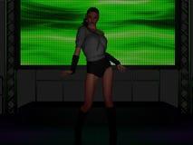 Piękny młoda kobieta taniec na scenie Obrazy Stock