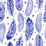 Piękny piórko wzór bezszwowy Zdjęcie Royalty Free