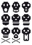 piksel czaszki Zdjęcie Royalty Free