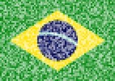 Piksel flaga Brazylia Fotografia Stock