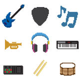 Piksel muzyka Zdjęcia Royalty Free