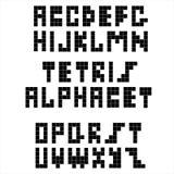 Piksel retro chrzcielnica Konstruktywnie czarny abecadło Obrazy Royalty Free