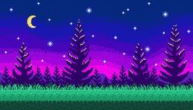 Piksel sztuki bezszwowy tło Zdjęcie Stock