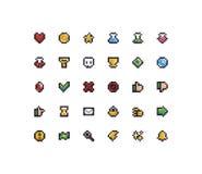 Piksel sztuki ikony Obrazy Stock
