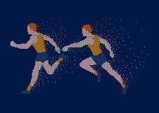Piksel sztuki ilustracja Czas robić Sztafetowej rasy ilustracja ilustracji