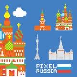 Piksel sztuki Russia wektoru set royalty ilustracja