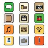 Piksel sztuki smartphone ikony wektoru podaniowa ilustracja Zdjęcia Royalty Free