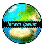 Piksel Ziemskiej kuli ziemskiej odosobniony wektor Zdjęcie Stock