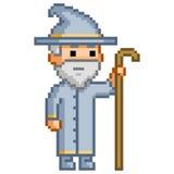Piksla czarownik dla gier ilustracja wektor