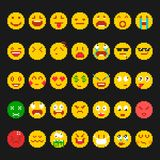 Piksla emoticon set Zdjęcie Stock