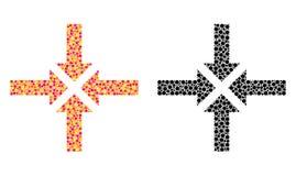 Piksla kompresu strzał mozaiki ikony royalty ilustracja