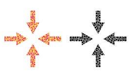 Piksla kompresu strzał mozaiki ikony ilustracji