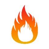 Piksla płomienia ogień ilustracji