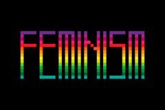 Piksla stylowy wektorowy feminizm ilustracja wektor