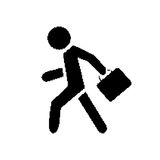 Piksla symbolu biznesmen royalty ilustracja