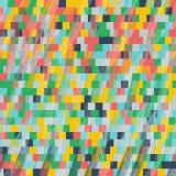 Piksli sześciany Bezszwowy wzór dla tapety, strony internetowej tło Obrazy Stock