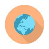 Piktograf kuli ziemskiej ikona na bielu ilustracji