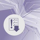 Piktograf listy kontrolnej ikona na purpurowym abstrakcjonistycznym nowożytnym tle Linie w wszystkie kierunkach Z pokojem dla twó Fotografia Royalty Free