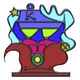 Piktograficzny skład kilograma rzeczownik royalty ilustracja