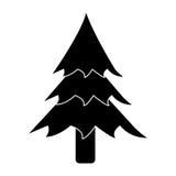 Piktogram sosny lasowa campingowa ikona Zdjęcia Royalty Free