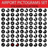 piktograma lotniskowy set Fotografia Royalty Free