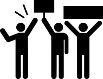 Piktogramm des Leutedemonstrierens Stockbild