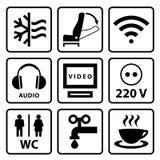 Piktogramm für touristischen Bus lizenzfreie stockfotografie