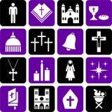 Piktogramme der katholischen Religion vektor abbildung