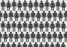 Piktogrammleute Mann-Ikonen-Zeichen-Symbol-Piktogramm Lizenzfreie Stockfotografie