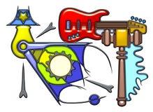 Piktographische Zusammensetzung des Rätselnomens Stockbild