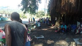 Pikus市场Arawa中央布干维尔岛 免版税库存图片
