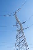 Pilão da eletricidade, fios elétricos Fotos de Stock