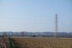 Pilão da eletricidade/torre da transmissão Fotos de Stock Royalty Free