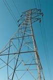Pilão da linha eléctrica imagens de stock