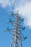 Pilão da linha elétrica Fotografia de Stock