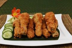 Pilão de galinha fritada Fotografia de Stock