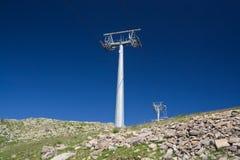 Pilão do elevador de esqui Imagem de Stock