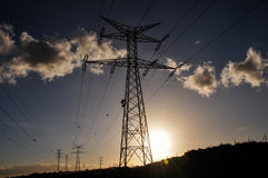 Pilão do poder da eletricidade Imagens de Stock