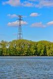 Pilão do poder da eletricidade Foto de Stock Royalty Free