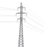 Pilón de acero eléctrico simple aislado en blanco Fotografía de archivo