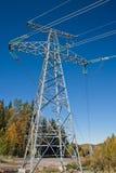 Pilón de alto voltaje de la electricidad Imágenes de archivo libres de regalías