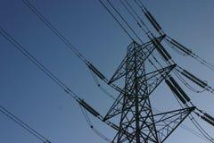 Pilón de la electricidad foto de archivo