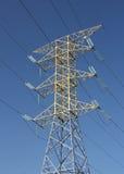 Pilón de la electricidad en México Foto de archivo libre de regalías